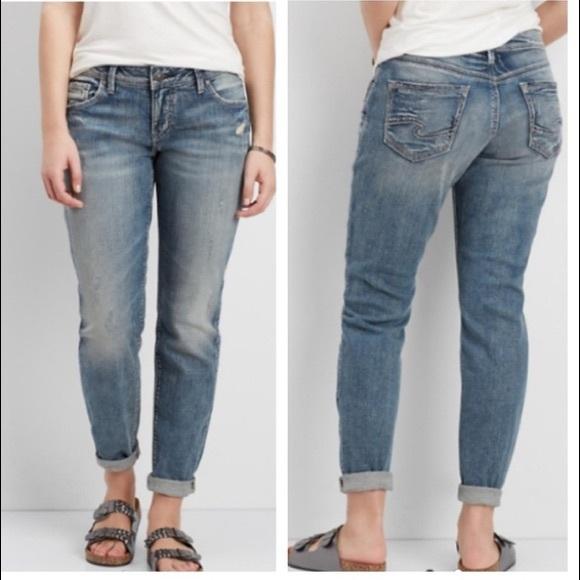 e6246296 Silver Sam Distressed Mid Rise Boyfriend Jeans. M_5c156964819e90279c3eaddb